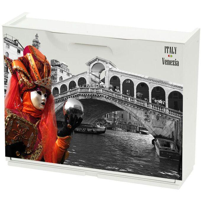 Παπουτσοθήκη Πλαστική Συναρμολογούμενη 51x17,3x41cm για 3 Ζευγάρια UNIKA Decor Venezia