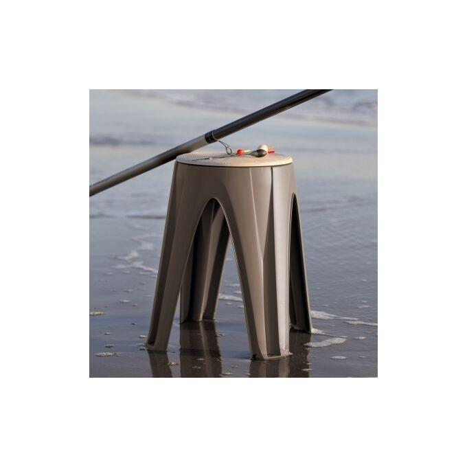 Πλαστικό Σκαμπό 35x35x45.5cm με Περιστρεφόμενη Θέση Γκρι Καφέ BAMA Ιταλίας