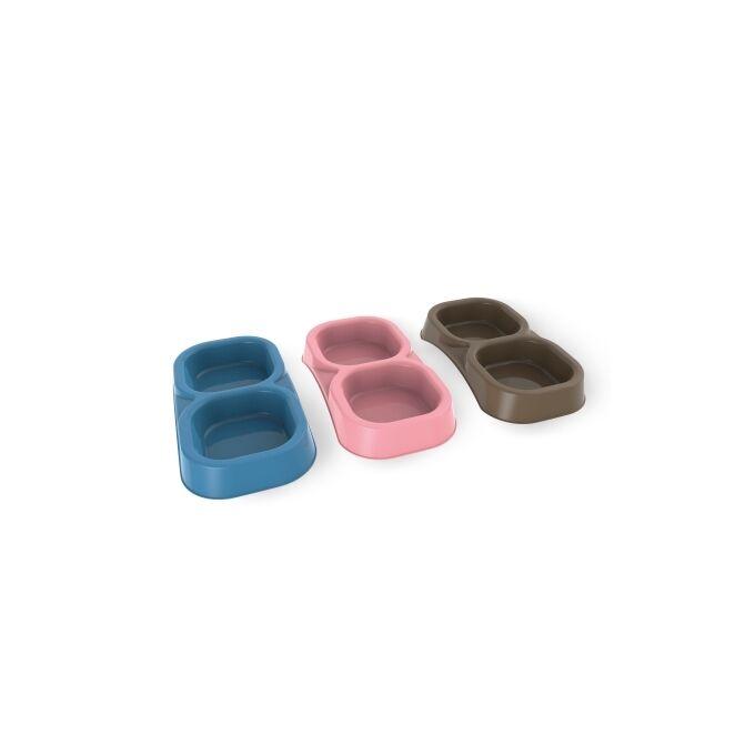 Ταΐστρα Σκύλου-Γάτας 2σε1 21x11.5x3cm Ροζ BAMA Ιταλίας