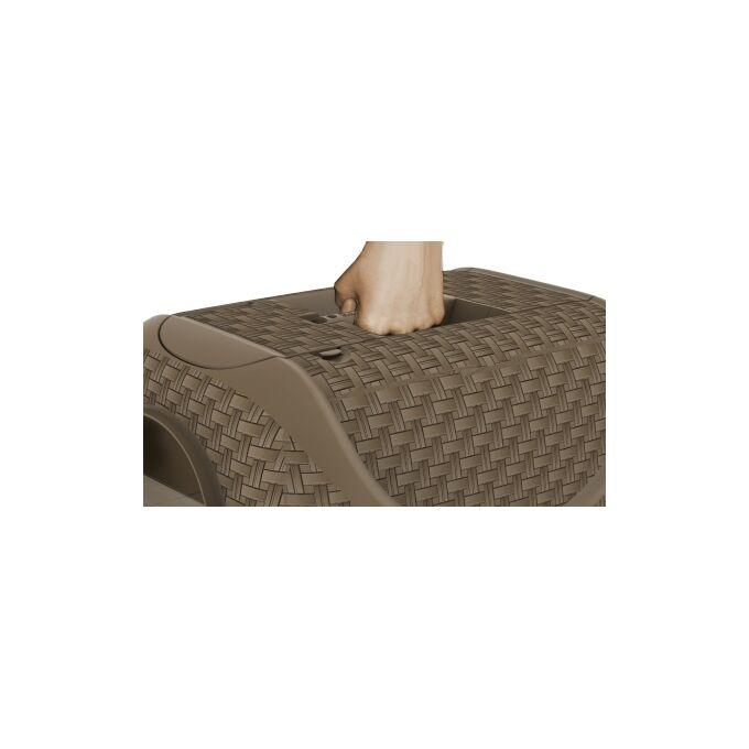 Τουαλέτα Γάτας Κλειστή 41.8x50.5x39.6cm RATTAN με Φίλτρο Ενεργού Άνθρακα Καφέ BAMA Ιταλίας