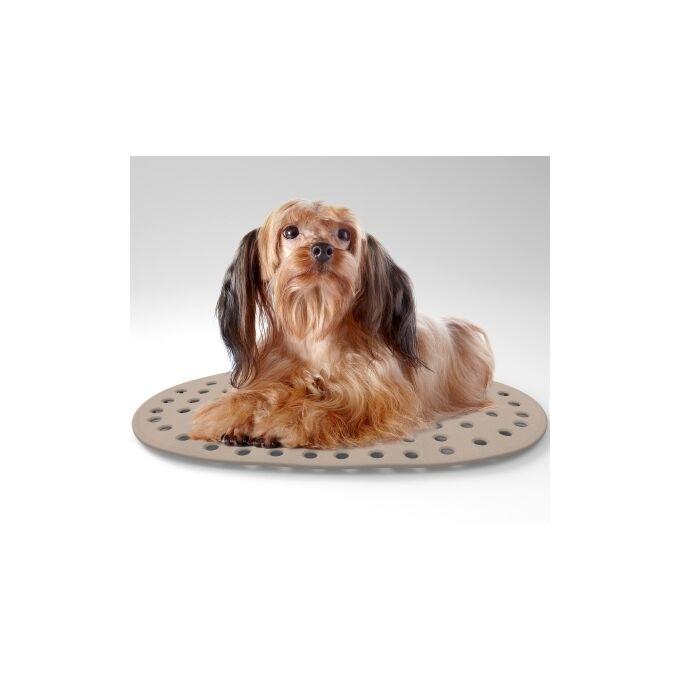 Στρώμα Σκύλου-Γάτας 38x23x1.6cm με Διατρητό Πάτο Γκρι BAMA GROUP