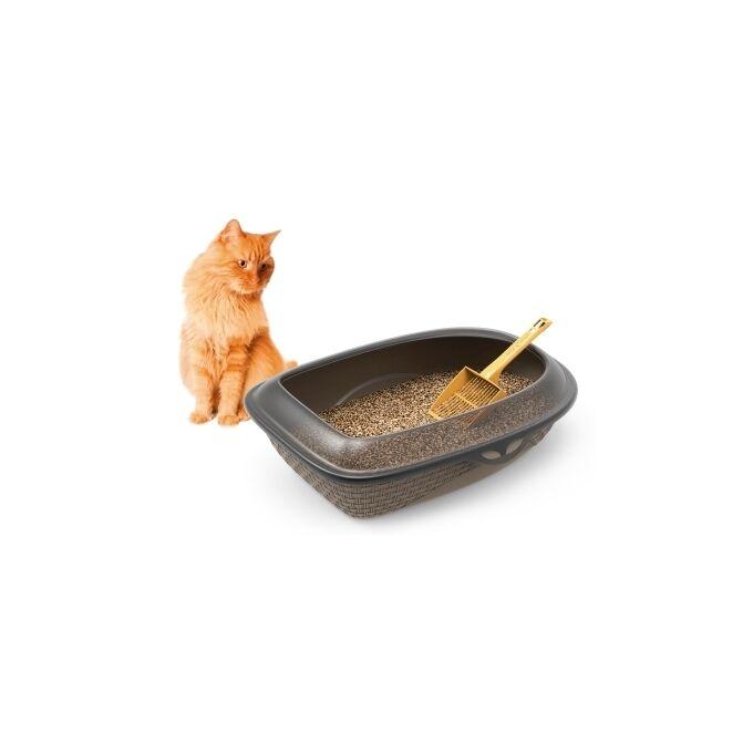 Τουαλέτα Γάτας Ανοικτή 59.5x40.3x18cm RATTAN Μπεζ BAMA Ιταλίας