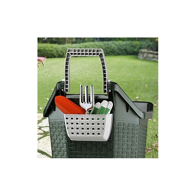 Καρότσι Κήπου Μεταφοράς Πλαστικό 59x50x72cm 3.9kg 76lt Αντοχή 60kg Κυπαρισσί BAMA Ιταλίας