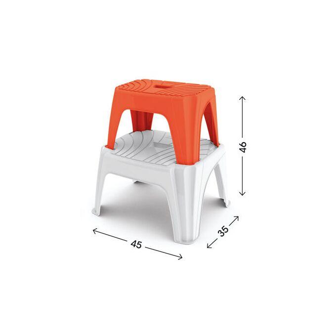 Σκαμπό Πλαστικό 45x35x25cm STEP2 Λευκό BAMA