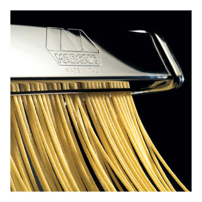 Marcato AMPIA180 Μηχανή Φύλλου και Ζυμαρικών 20x18.5x13cm Επιχρωμιωμένο Ατσάλι MAX Πλάτος Ζύμης 18cm Βάρος 2.5kg Ιταλίας