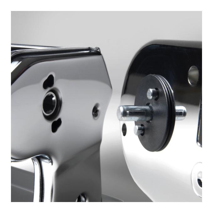Marcato ATLAS150 Roller Μηχανή Φύλλου 20x12x13cm Επιχρωμιωμένο Ατσάλι MAX Πλάτος Ζύμης 15cm Βάρος 1.20kg