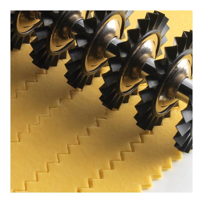 Marcato Εξάρτημα Κοπής Ζύμης DESIGN με 9 Αφαιρούμενες Ροδέλες 14.5x4x16cm Κίτρινο PASTABIKE Ιταλίας