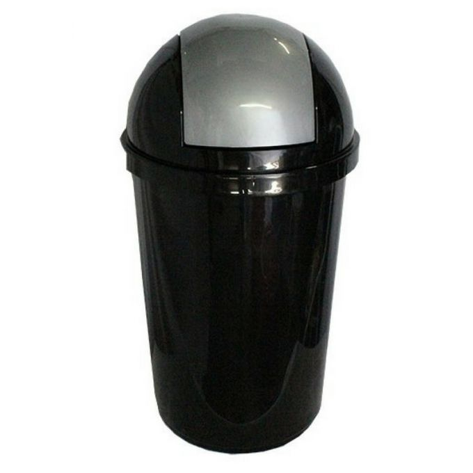 Κάδος Απορριμάτων 60lt Πλαστικός Ø40x77cm Επαγγελματικός Μαύρο-Ανθρακί VIOMES Ελλάδας