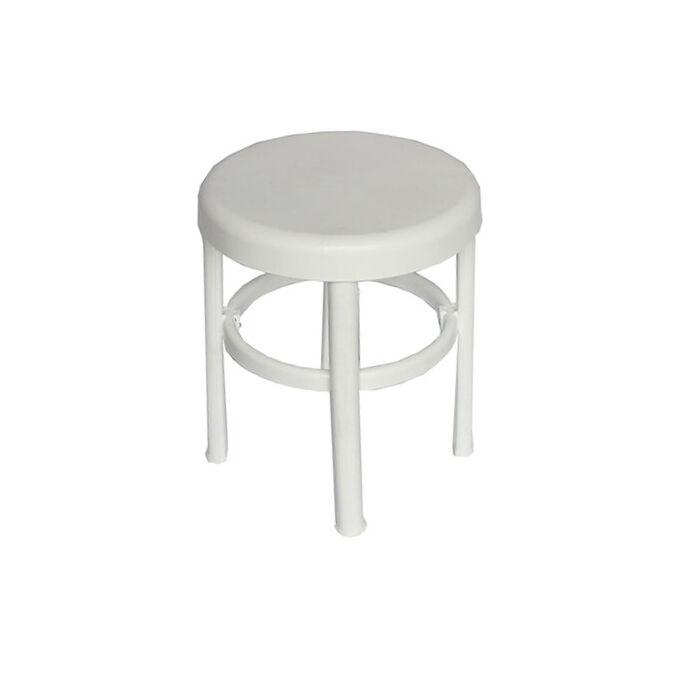 Σκαμπό-Κάθισμα Μπανιου Φ31x38cm Πλαστικό Στρογγυλό Βάρος 1kg Max Αντοχή 100kg Λευκό Ελλάδας