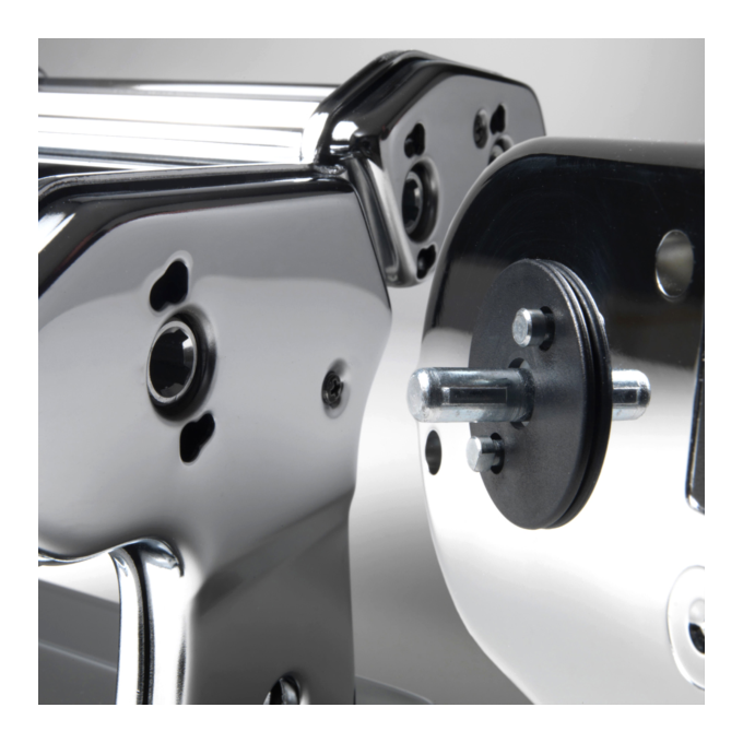 Marcato ATLASMOTOR Μηχανή Φύλλου και Ζυμαρικών με Μοτέρ Ηλεκτρικό 220V 32x20x15.5cm Επιχρωμιωμένο Ατσάλι Διαιρούμενη MAX Πλάτος Ζύμης 15cm Βάρος 2.38kg Ιταλίας