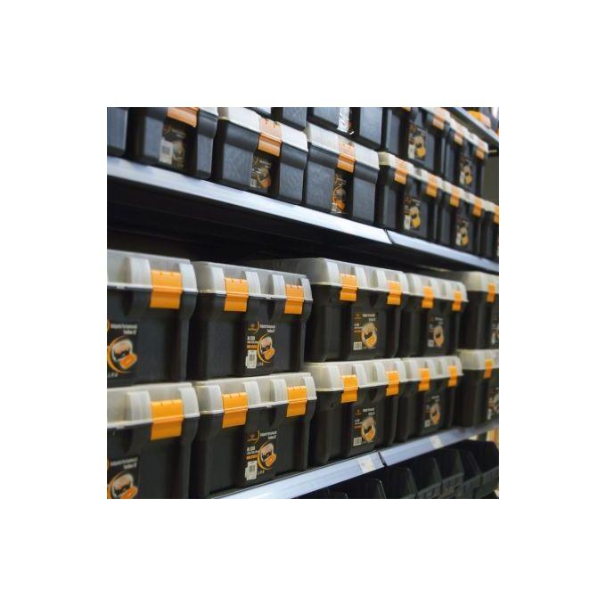 Βαλίτσα Μεταφοράς Δραπάνου - Εργαλειοθήκη Επαγγελματική Πλαστική 39x31x13.5cm με 2 ταμπακιέρες και Χειρολαβή 1.19kg Μαύρο-Πορτοκαλί Artplast Ιταλίας