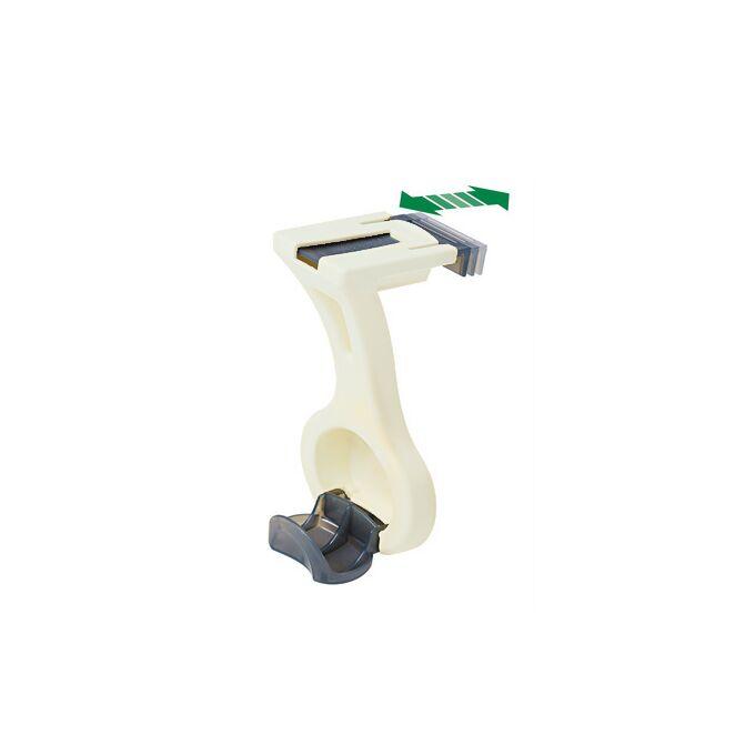 Κρεμάστρα Πολυλειτουργική Πλαστική 15.5x8x6cm με Ρυθμιζόμενο Γάντζο 0.7-5cm FRUYT BAMA Ιταλίας