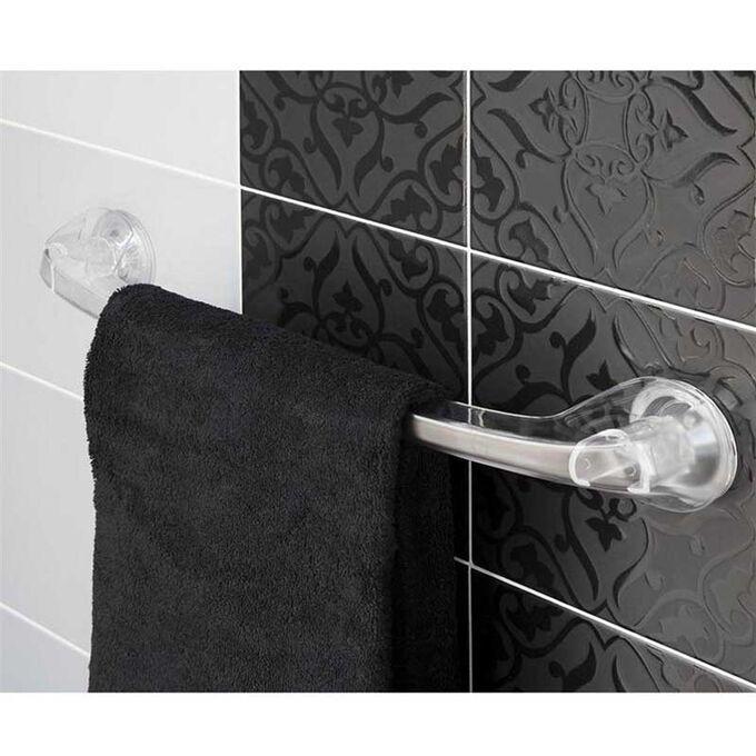 Πετσετοθήκη Μπάνιου 55x8.8x7.5cm Πλαστική Επιτοίχια με Βεντούζα και Σύστημα Κλειδώματος Διάφανη BAMA Ιταλίας