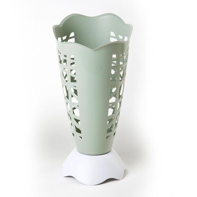Ομπρελοθήκη Πλαστική Ø30x60.5cm με Διάτρητη Επιφάνεια Χακί-Λευκό BAMA Ιταλίας