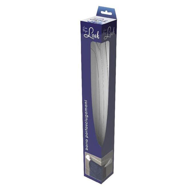 Πετσετοθήκη Μπάνιου 55x8.8x7.5cm Πλαστική Επιτοίχια με Βίδες Διάφανη BAMA Ιταλίας