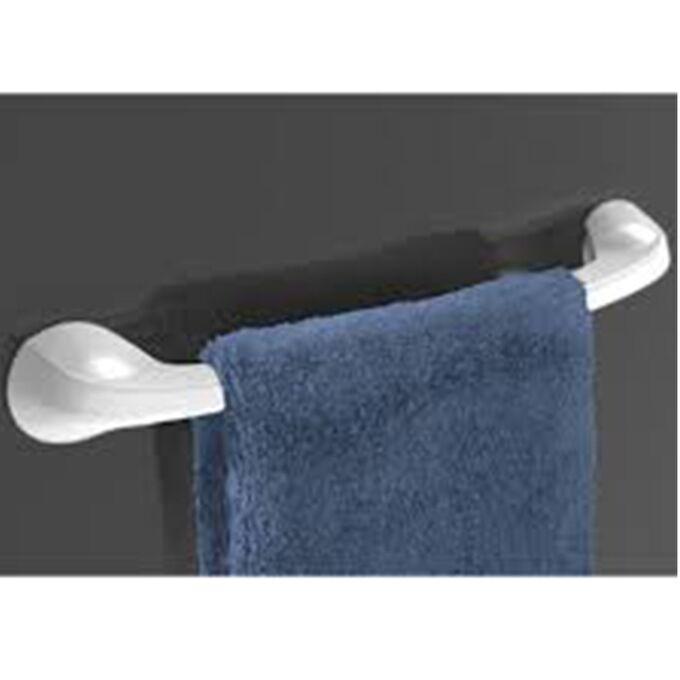 Πετσετοθήκη Μπάνιου 55x8.8x7.5cm Πλαστική Επιτοίχια με Βεντούζα και Σύστημα Κλειδώματος Λευκή BAMA Ιταλίας