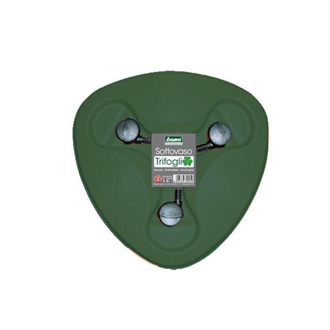 Βάση Γλάστρας Σύνθεσης Τριπλής TRIFOGLIO Ø40X10cm με Ρόδες Πλαστική 0.37kg Κυπαρισσί BAMA  Ιταλίας