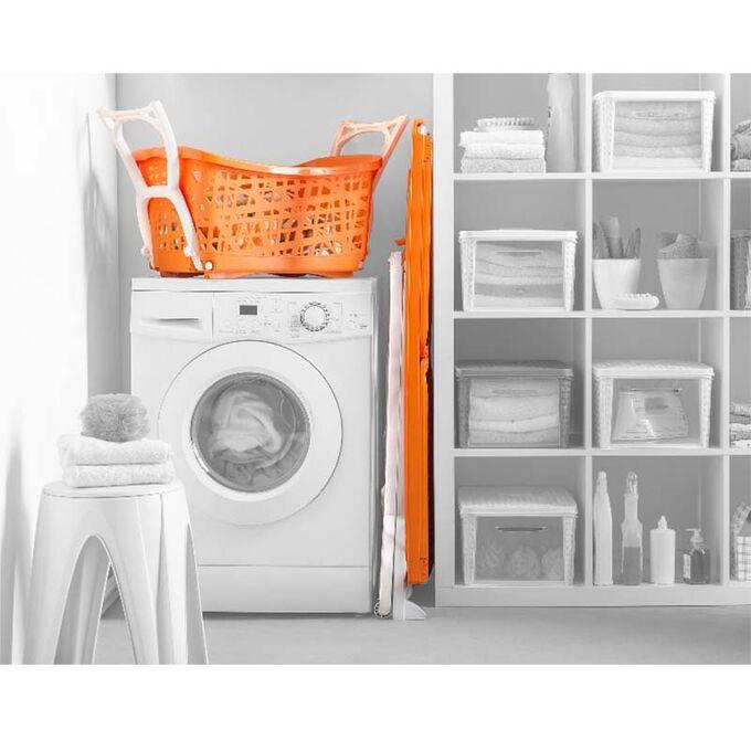 Απλώστρα Ρούχων Πλαστική 198x60x116cm 3φυλλη Άπλωμα 22m Αντοχή 25kg Βάρος 5kg Πορτοκαλί-Λευκό Panny BAMA Ιταλίας