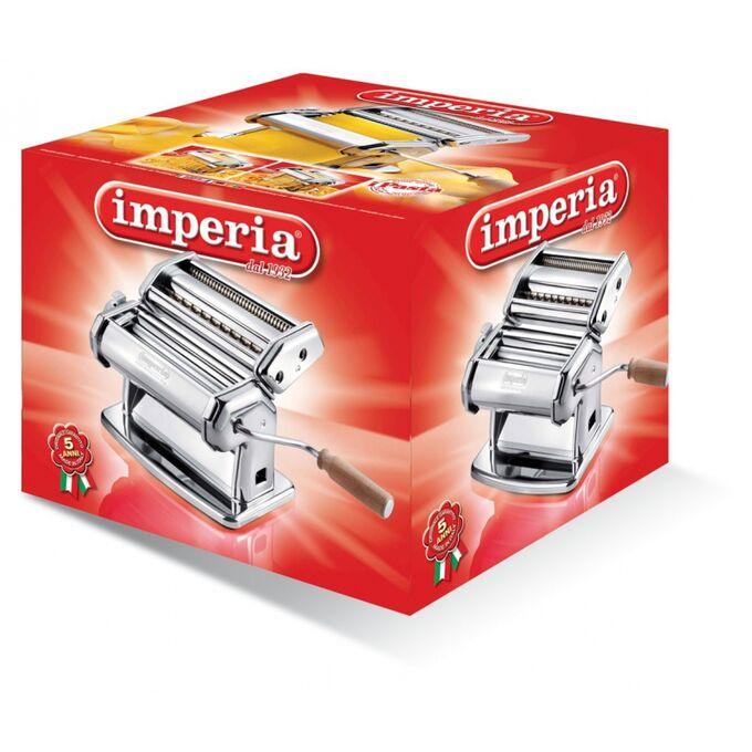 IMPERIA IPASTA Limited Edition Μηχανή Φύλλου και Ζυμαρικών 20.5x18x17cm Επιχρωμιωμένο Ατσάλι Διαιρούμενη/Αποσπώμενη MAX Πλάτος 14cm Βάρος 3.45kg Ιταλίας