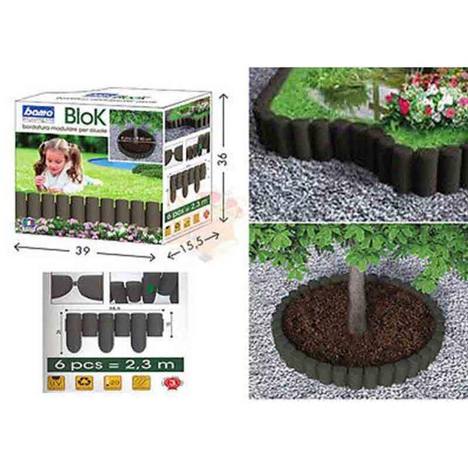 Ρολ Μπαρ - Φράχτης Κήπου Σετ 6 Τεμαχίων MAX Μήκος σε Ευθεία 2.3m ΜΑΧ Διάμετρος Ø80cm Πλαστικό Καφέ BAMA Ιταλίας