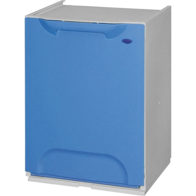 Κάδος Ανακύκλωσης Απορριμμάτων Κουζίνας 34x29x47cm 46+20lt Πλαστικός Μπλε ARTPLAST Ιταλίας