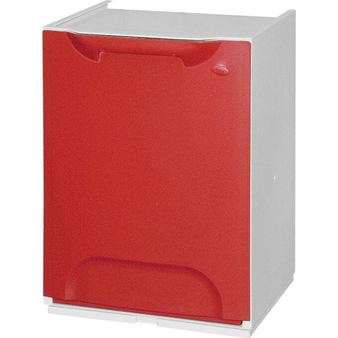 Κάδος Ανακύκλωσης Απορριμμάτων Κουζίνας 34x29x47cm 46+20lt Πλαστικός Κόκκινο ARTPLAST Ιταλίας