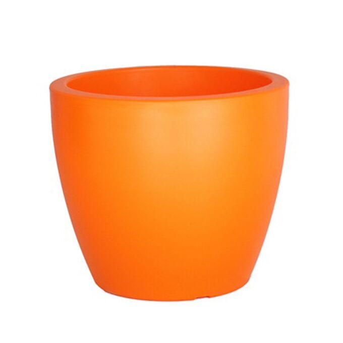 Κασπώ/Γλάστρα Πλαστικό Στρογγυλό Ø20x17cm 4lt COLOR Πορτοκαλί Ελλάδας