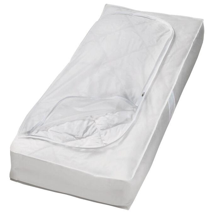 ORDINETT ITALY Θήκη Φύλαξης Ρούχων 120x50x15cm 100%PEVA 90lt 0.12kg TOP CLASS WHITE UNDERBED Διάφανο Λευκό
