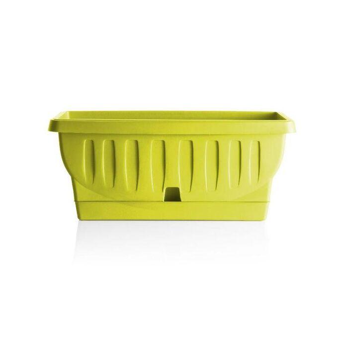 BAMA ITALY Ζαρντινιέρα Decor 30cm/40cm/50cm με Αυτοποτιζόμενο Πιάτο Πλαστική Λαχανί NATURA