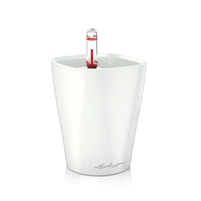 LECHUZA Deltini Επιτραπέζια Γλάστρα 15x15x19cm Αυτοποτιζόμενη με Δοχείο Φύτευσης ΛΕΥΚΗ Γερμανίας iF Product Design Award 2012