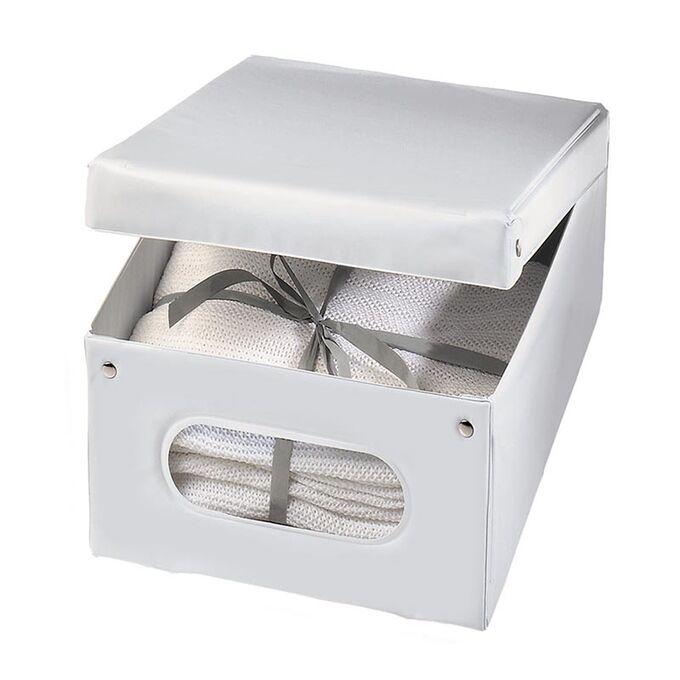 ORDINETT ITALY Κουτί Αποθήκευσης Ρούχων 36x48x19cm 100%PEVA 33lt 0.81kg TOP CLASS WHITE BOX MEDIUM Λευκό