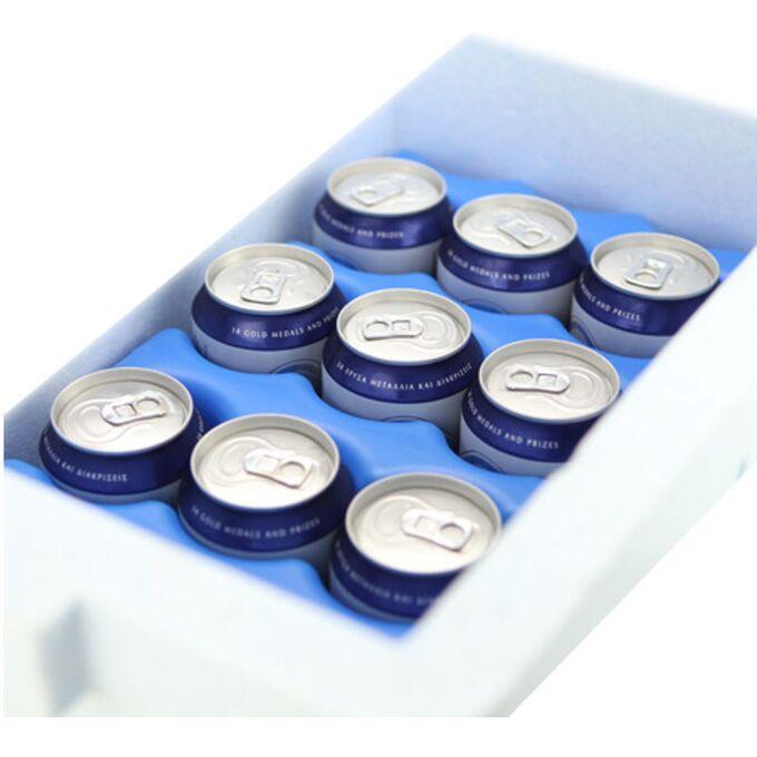 Παγοκύστη Κυματιστή GEL 550gr 9.7x5x20.5cm Μπλε Ελλάδας