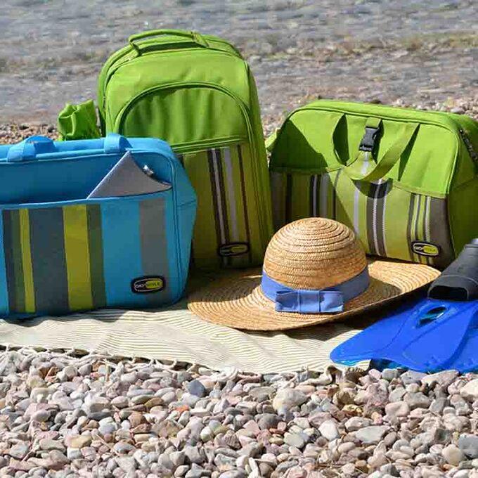 GIOSTYLE ITALY Ισοθερμική Τσάντα 41.5x20.5x25cm Πάχος 6mm 18lt Πολυεστέρας 600D MAX Απόδοση 11 Ώρες Πιστοποιήσεις Azo FREE/REACH CAPRICE BEACH Γαλάζιο