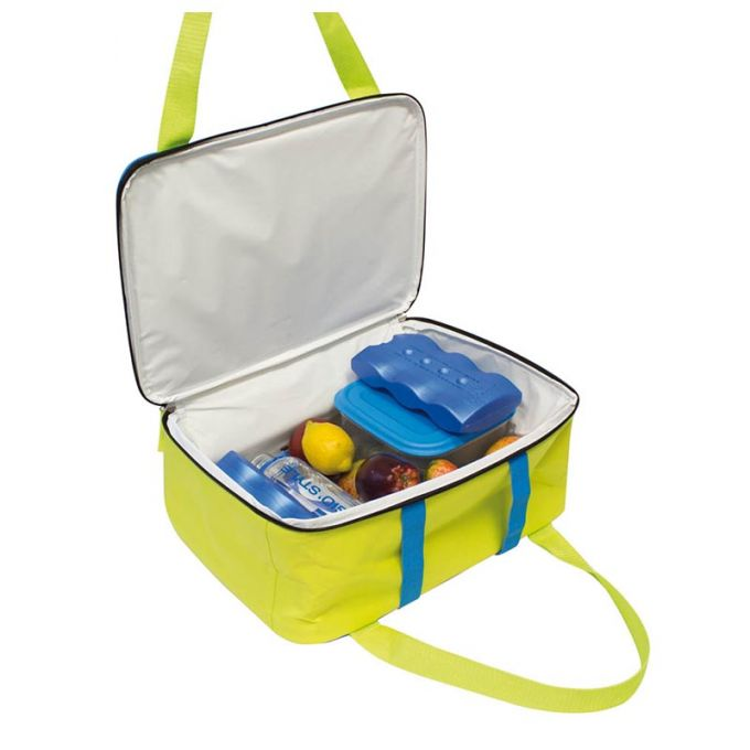 GIOSTYLE ITALY Ισοθερμική Τσάντα 36x15x26cm Πάχος 6mm 15.5lt Πολυεστέρας 300D MAX Απόδοση 16 Ώρες Πιστοποιήσεις Azo FREE/REACH LIME COOLBAG Κίτρινο - Μπλε