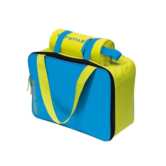 GIOSTYLE ITALY Ισοθερμική Θήκη Θερμός Ø8.5x 22cm Πάχος 6mm 0.8lt Πολυεστέρας 300D Πιστοποιήσεις Azo FREE/REACH LIME BOTTLE COOLER Μπλε-Κίτρινο