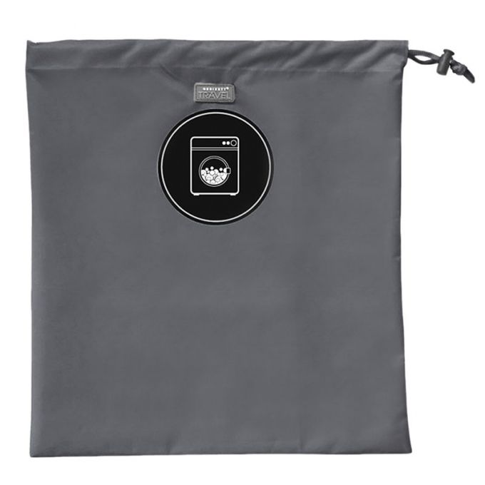 ORDINETT ITALY Σάκος Άπλυτων Ρούχων 38x42cm από Πολυεστέρα LAUNDRY BAG Γκρι Σκούρο