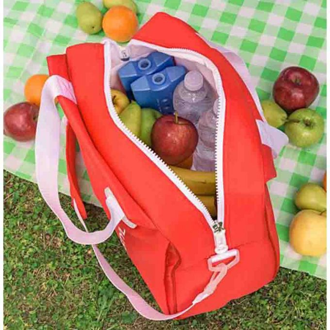 GIOSTYLE ITALY Ισοθερμική Τσάντα 40.5x17x31.5cm Πάχος 6mm 20lt Πολυεστέρας 300D MAX Απόδοση 13 Ώρες Πιστοποιήσεις Azo FREE/REACH SORBETTO L Κόκκινη