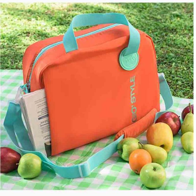 GIOSTYLE ITALY Ισοθερμική Τσάντα 40.5x17x31.5cm Πάχος 6mm 20lt Πολυεστέρας 300D MAX Απόδοση 13 Ώρες Πιστοποιήσεις Azo FREE/REACH SORBETTO L Πορτοκαλί