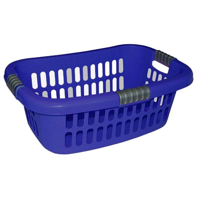 Καλάθι Ρούχων 63x43x22.5cm Πλαστικό 36lt Μπλε Σκούρο Ελλάδας