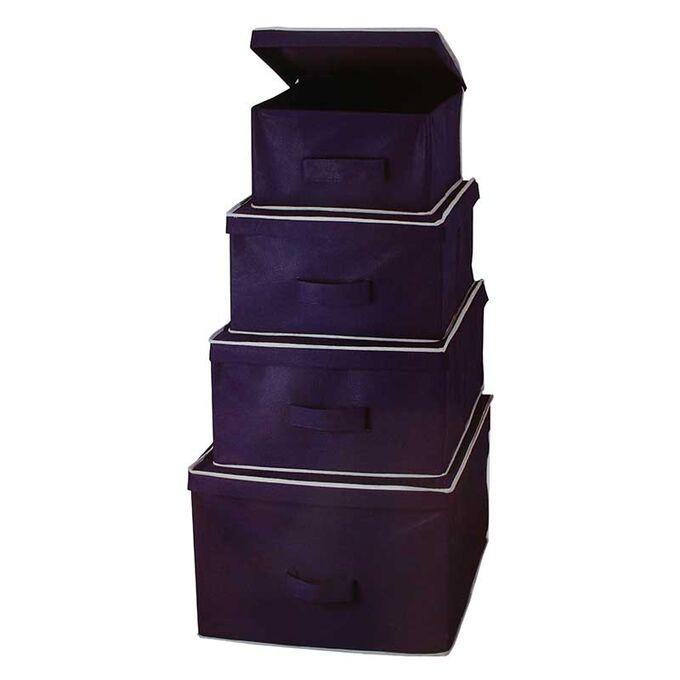 Κουτί Αποθήκευσης Ρούχων 28x33x15cm 14lt TNT Μπλε Σκούρο