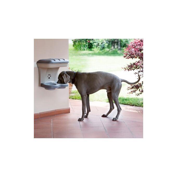 Ταΐστρα-Ποτίστρα Σκύλων 2σε1 50x29x52cm Μπεζ-Καφέ BAMA Ιταλίας