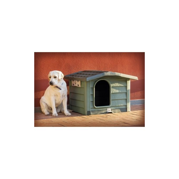 BAMA ITALY Σπίτι Σκύλου 110x94x77cm X LARGE με Ρυθμιζόμενη Οροφή και Αφαιρούμενο Πάτωμα 15kg Πράσινο BUNGALOW LARGE