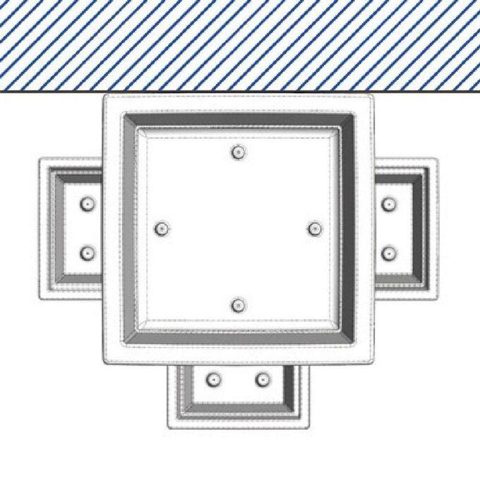 BAMA ITALY Γλάστρα Βαρέως 50x50x87.5cm 78lt Τύπου Γίγας 7.7kg Πλαστική Κεραμιδί PIRAMIDE