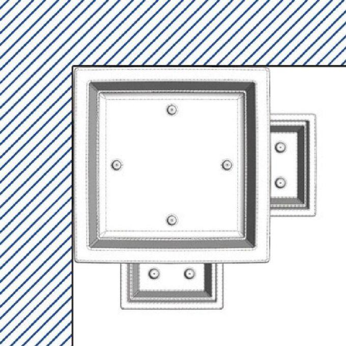 BAMA ITALY Γλάστρα Βαρέως Τύπου 50x50x87.5cm 78lt Γίγας 7.7kg Πλαστική Λευκή PIRAMIDE