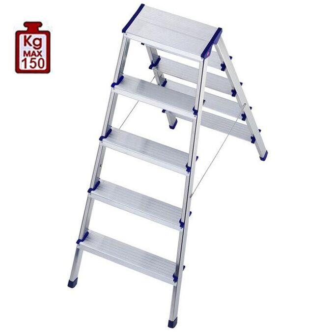 Σκαλοσκαμπό Αλουμινίου 2x5 Σκαλιά MAX Ύψος 110cm Βάρος 3.4kg MAX Αντοχή 150kg
