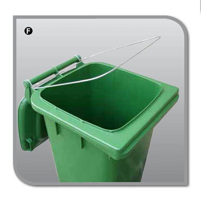 Μεταλλικό Στεφάνι για Σακούλες Σκουπιδιών για Κάδους Απορριμμάτων με Χωρητικότητα 240lt ICS Ιταλίας