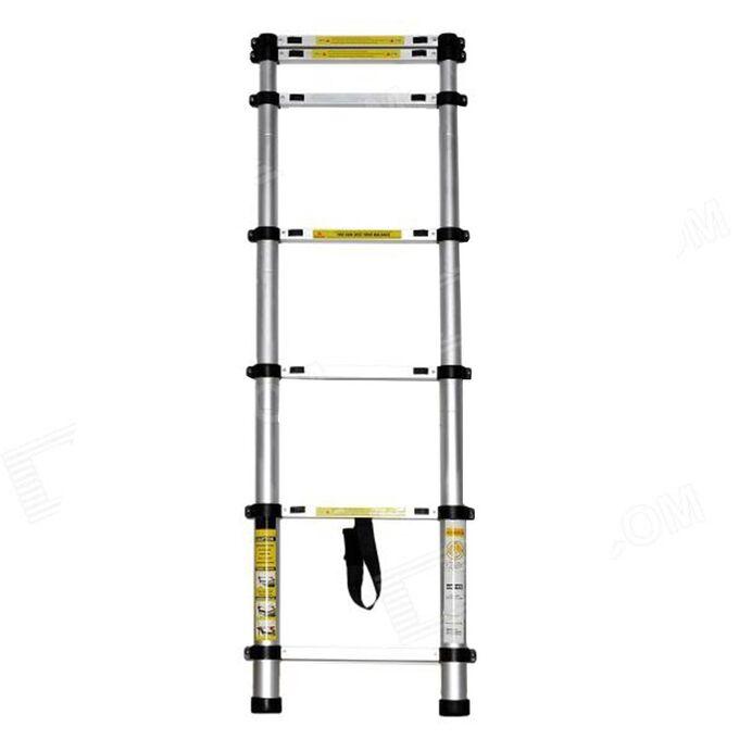 Τηλεσκοπική Σκάλα 1.98m Αλουμινίου με 7 Σκαλιά Βάρος 4.6kg MAX Αντοχή 150kg LS1106