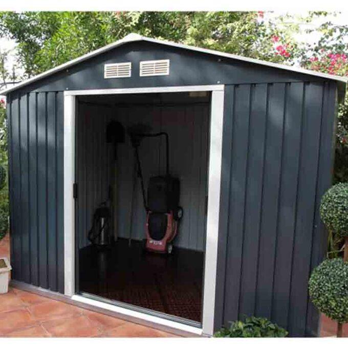 Μεταλλική Αποθήκη Κήπου - Σπιτάκι Κήπου 201x181x190 (6.6'x6') 6.91m³ Γαλβανιζέ Polis Γκρι LILYSHED