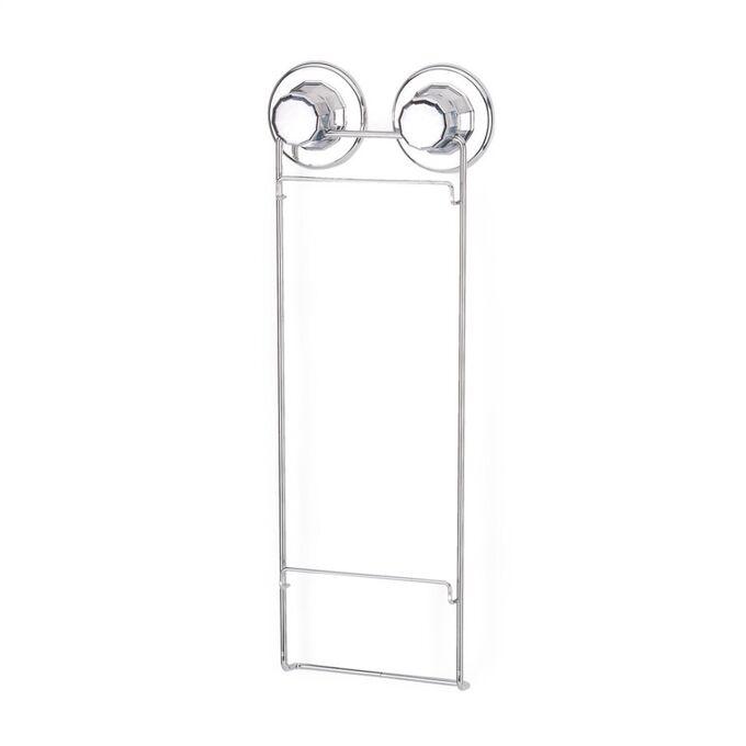TEKNO-TEL Εταζέρα Μπάνιου 2όροφη Πτυσσόμενη 25x15x36cm Πάχος 7mm Αντοχή 12kg Επιχρωμιωμένο Ατσάλι με Βεντούζα EXTRA STRONG