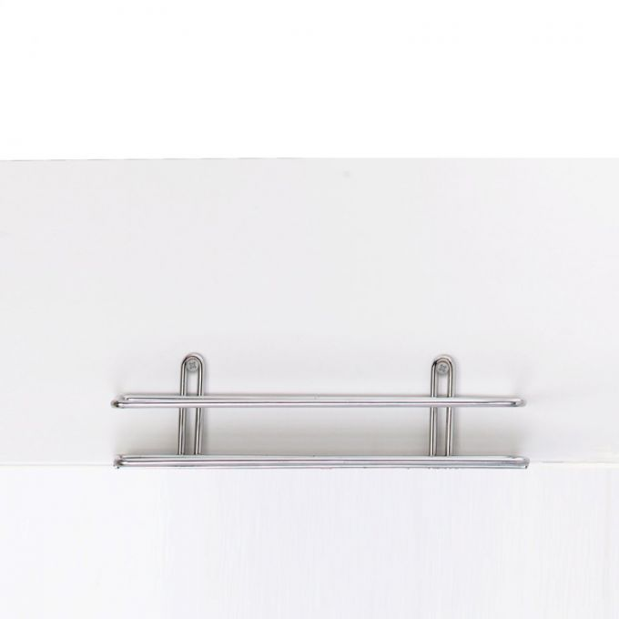 TEKNO-TEL Ραφιέρα Μπάνιου Τοίχου 25x11x7cm Πάχος Ø5mm Επιχρωμιωμένο Ατσάλι